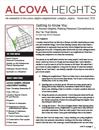 November 2013 Alcova Heights Newsletter Ready to Read